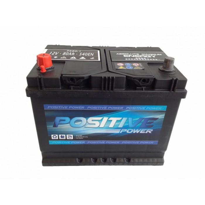 Batería para coche 80Ah izquierda